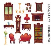 victorian interior living room...   Shutterstock .eps vector #1761479039