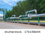 big tube in green iron... | Shutterstock . vector #176148644