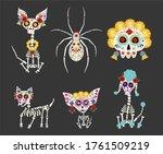 dia de los muertos  day of the... | Shutterstock .eps vector #1761509219