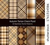 plaid pattern set. gingham ... | Shutterstock .eps vector #1761514586