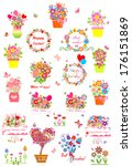 collection of greetings. raster ... | Shutterstock . vector #176151869