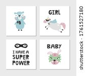 set of children's posters with...   Shutterstock .eps vector #1761527180