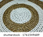 Small photo of brown and white placemate/tablemate texture.