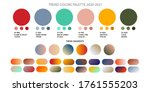 fashion color trend spring and... | Shutterstock .eps vector #1761555203