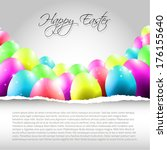 happy vector easter  background ... | Shutterstock .eps vector #176155640