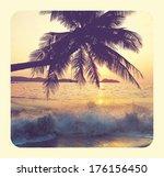 tropical beach | Shutterstock . vector #176156450