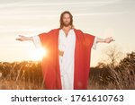 Jesus Christ With Outstretched...