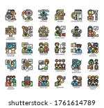 set of job recruitment thin... | Shutterstock .eps vector #1761614789