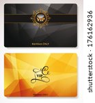 set of gold vip cards with the... | Shutterstock .eps vector #176162936