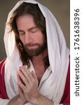 Jesus Christ With Head Bowed...