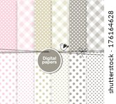paper background  digital paper ... | Shutterstock .eps vector #176164628