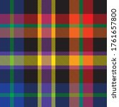 rainbow plaid  checkered ... | Shutterstock .eps vector #1761657800