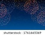 fireworks summer festival... | Shutterstock .eps vector #1761665369