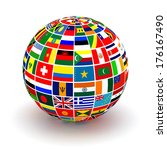 planet flags. 3d | Shutterstock . vector #176167490