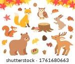 Illustration Set Of Autumn...