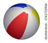 vector beach ball icon....