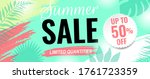 summer sale poster with text... | Shutterstock .eps vector #1761723359