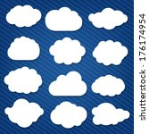 cartoon clouds set  with... | Shutterstock .eps vector #176174954