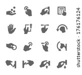 simple set of hands related... | Shutterstock .eps vector #176176124