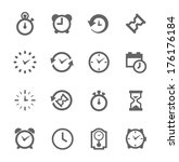 simple set of time related... | Shutterstock .eps vector #176176184