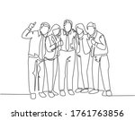 one continuous line drawing of... | Shutterstock .eps vector #1761763856