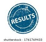 Results Sign Sticker. Stamp...