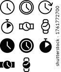 simple time and watches icons | Shutterstock .eps vector #1761772700