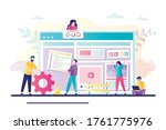 business team working together... | Shutterstock .eps vector #1761775976