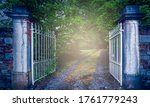 Old Wrought Iron Gate At...
