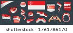 vector set of the national flag ... | Shutterstock .eps vector #1761786170