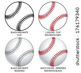 Vector Baseballs  - stock vector