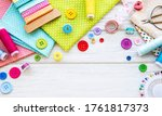 Sewing Accessories And Fabric...
