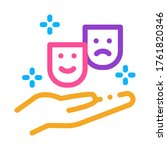 masks of joy and sadness on... | Shutterstock .eps vector #1761820346