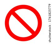 red prohibition sign on white... | Shutterstock .eps vector #1761825779