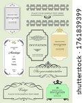 set of ornate vector frames and ... | Shutterstock .eps vector #1761839399