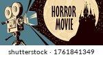 horror movie poster. vector... | Shutterstock .eps vector #1761841349