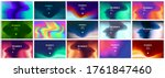 smooth abstract colorful... | Shutterstock .eps vector #1761847460