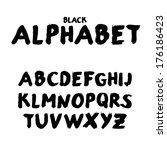 handwritten watercolor alphabet. | Shutterstock . vector #176186423