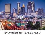 Atlanta  Georgia  Usa Twilight...
