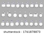 white blank advertising... | Shutterstock .eps vector #1761878873