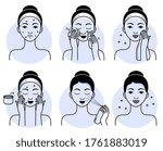 face skincare set. isolated...   Shutterstock .eps vector #1761883019