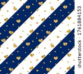 gold heart seamless pattern.... | Shutterstock . vector #1761884153