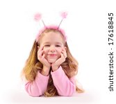little girl as small beetle | Shutterstock . vector #17618845