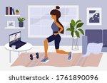 online sport exercises or... | Shutterstock .eps vector #1761890096