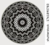 modern round mandala pattern.... | Shutterstock .eps vector #1761890783