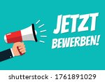 hand holding megaphone   vector ... | Shutterstock .eps vector #1761891029