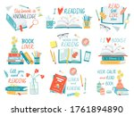 books collection. hand drawn...   Shutterstock .eps vector #1761894890