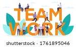 Teamwork Motivation Concept....
