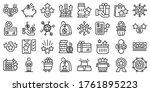 bonus icons set. outline set of ... | Shutterstock .eps vector #1761895223
