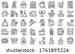 disinfection icons set. outline ... | Shutterstock .eps vector #1761895226